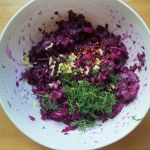 fermented purple cabbage