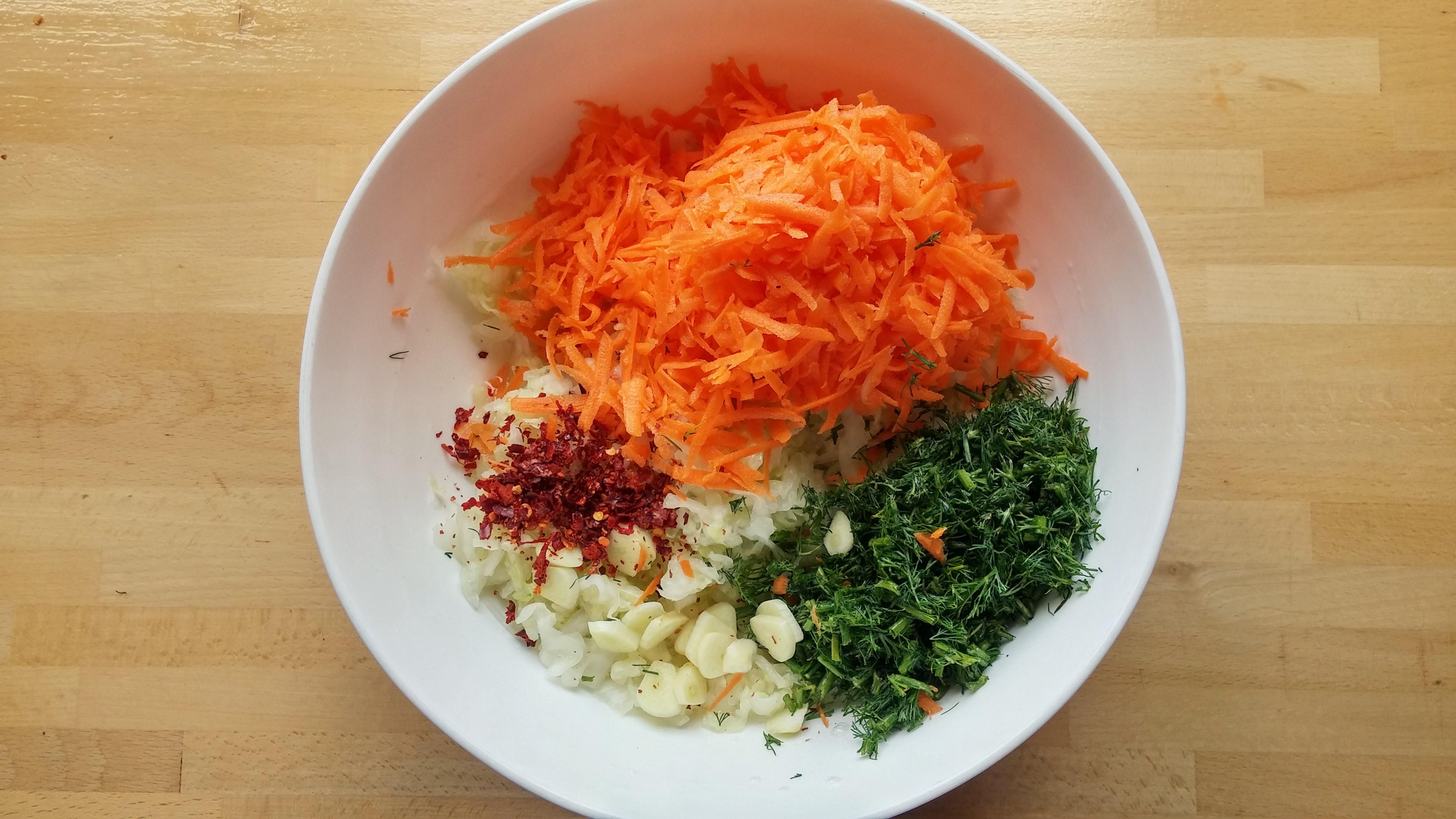 carrot sauerkraut