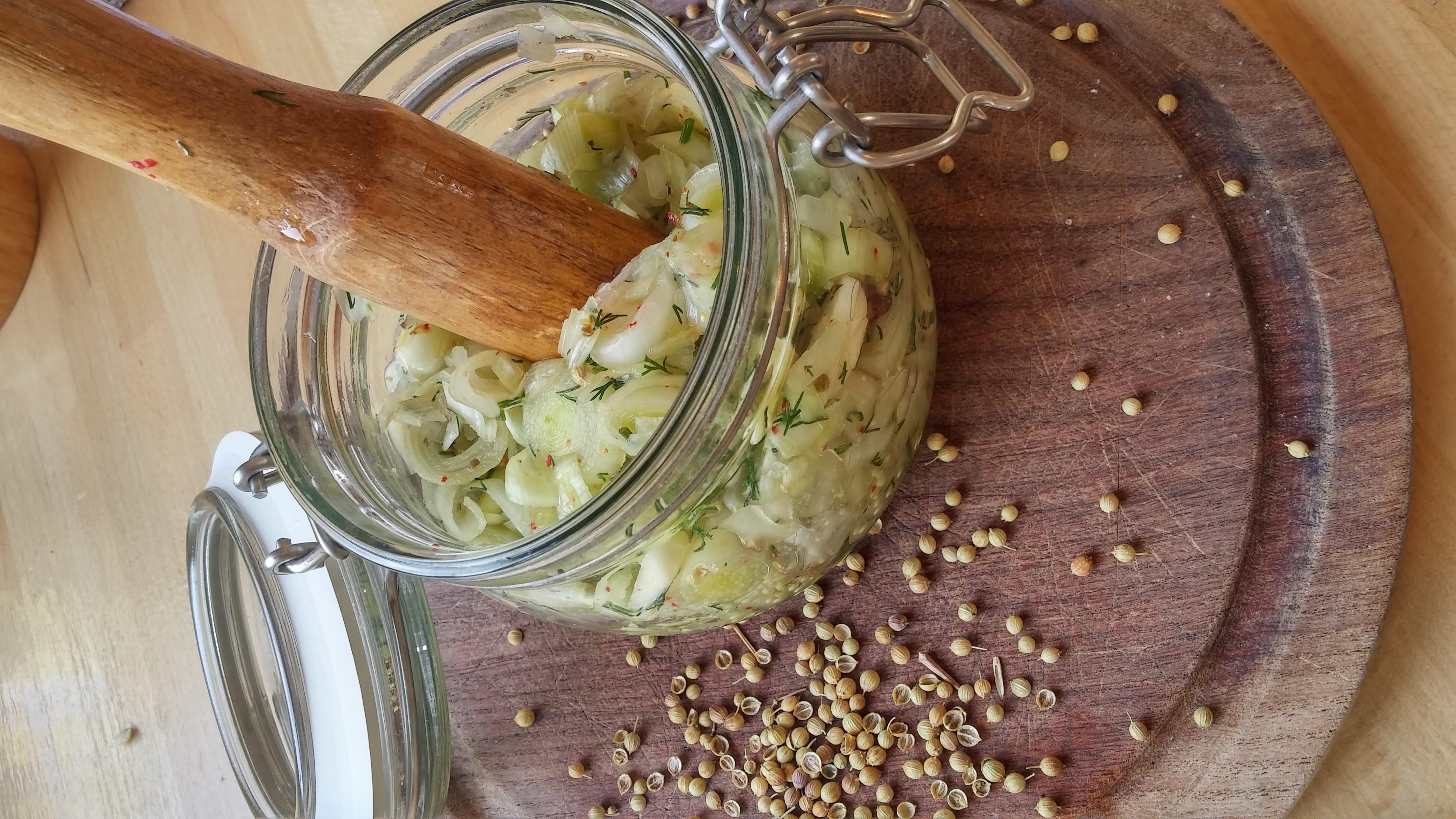 fermented leeks