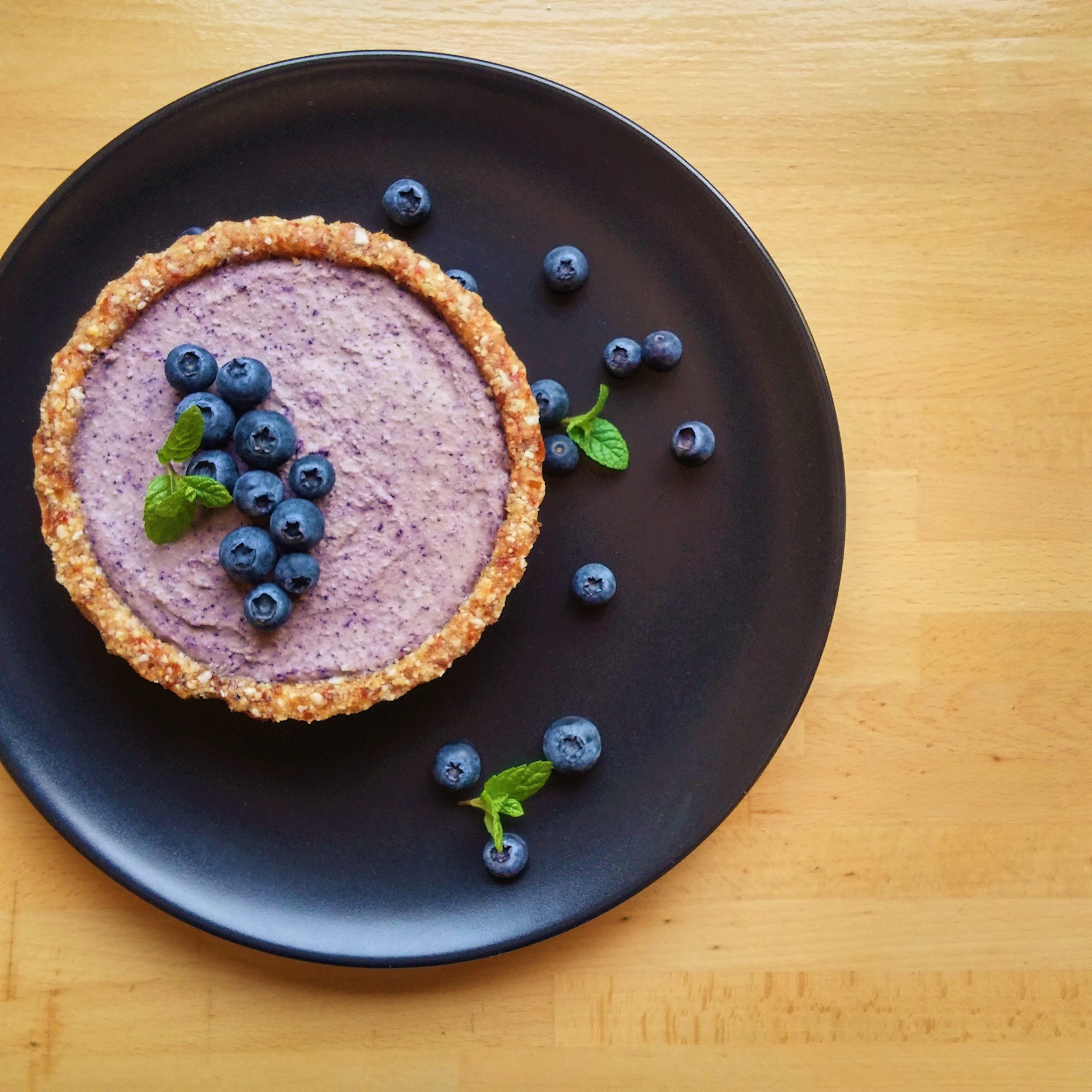 vegan blueberry tart
