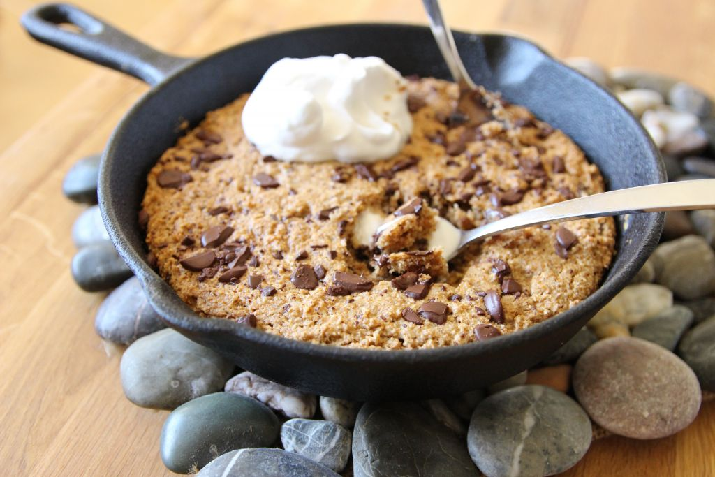skillet chocolate chip cookie for two