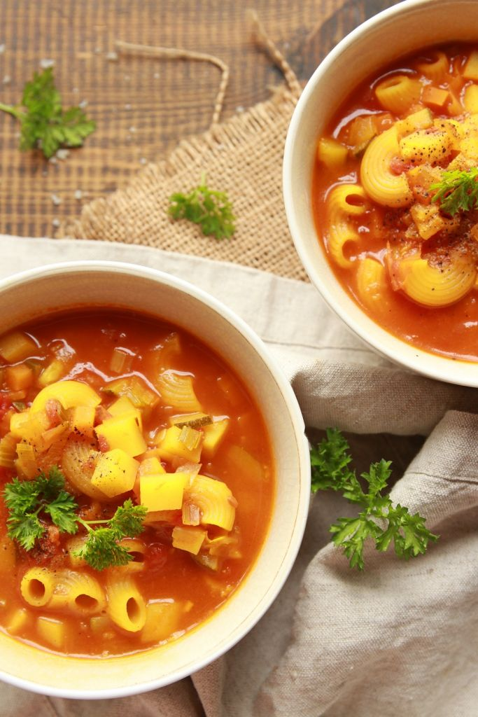 vegan minestrone soup