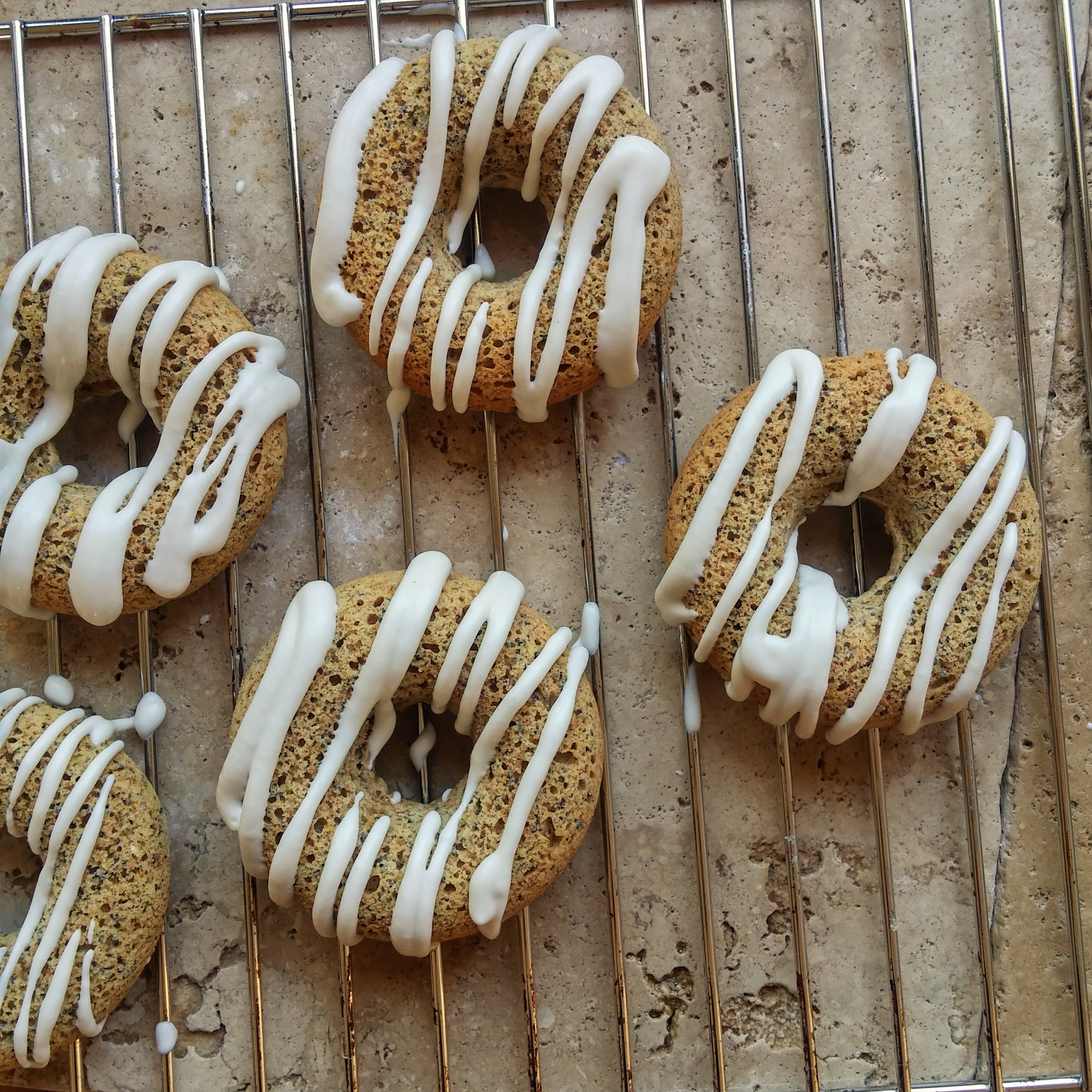orange and poppy seed baked donuts