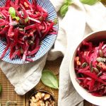 raw vegan beetroot salad