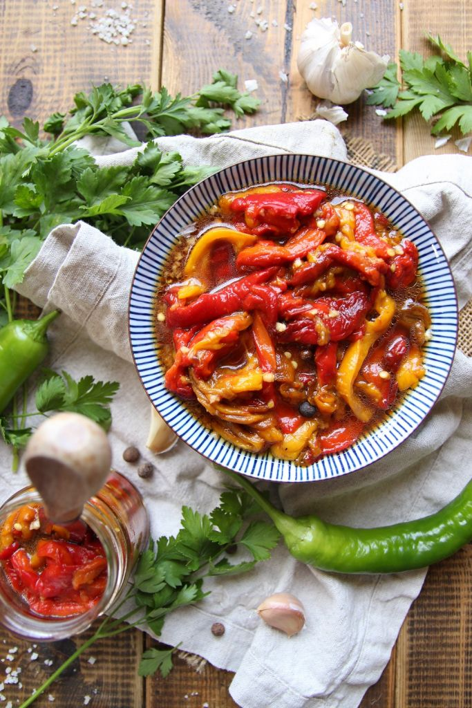 Pickled Roasted Peppers